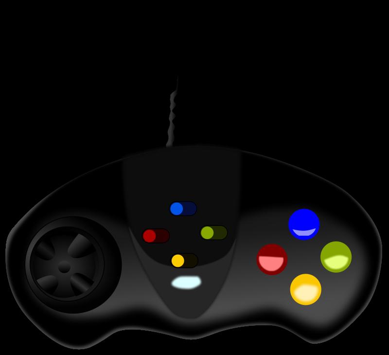 Video Game Controller Clip Art.