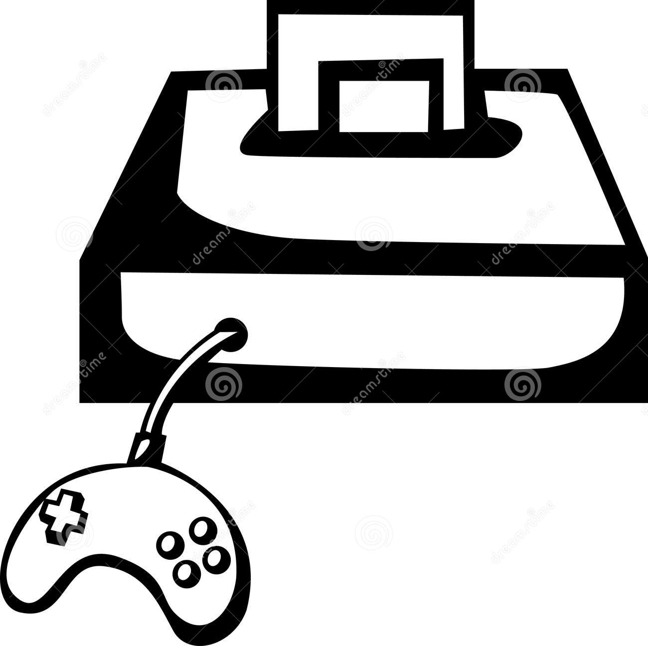 Video game console clipart black.