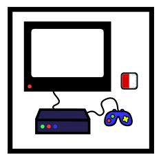 Retro Game Console Clipart.