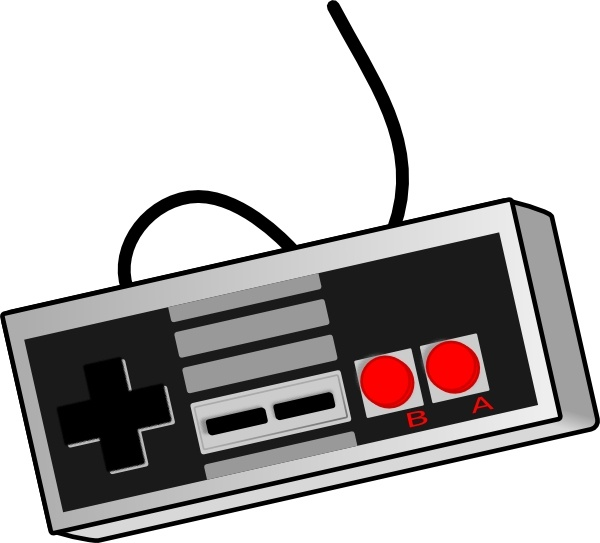 Bhspitmonkey Old School Game Controller clip art Free vector in.
