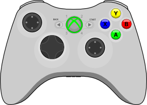Game controller clipart no white.