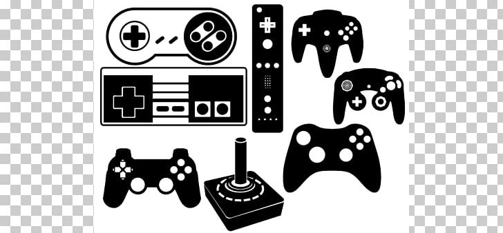 Black Game Controller Video Game Wii PNG, Clipart, Black.