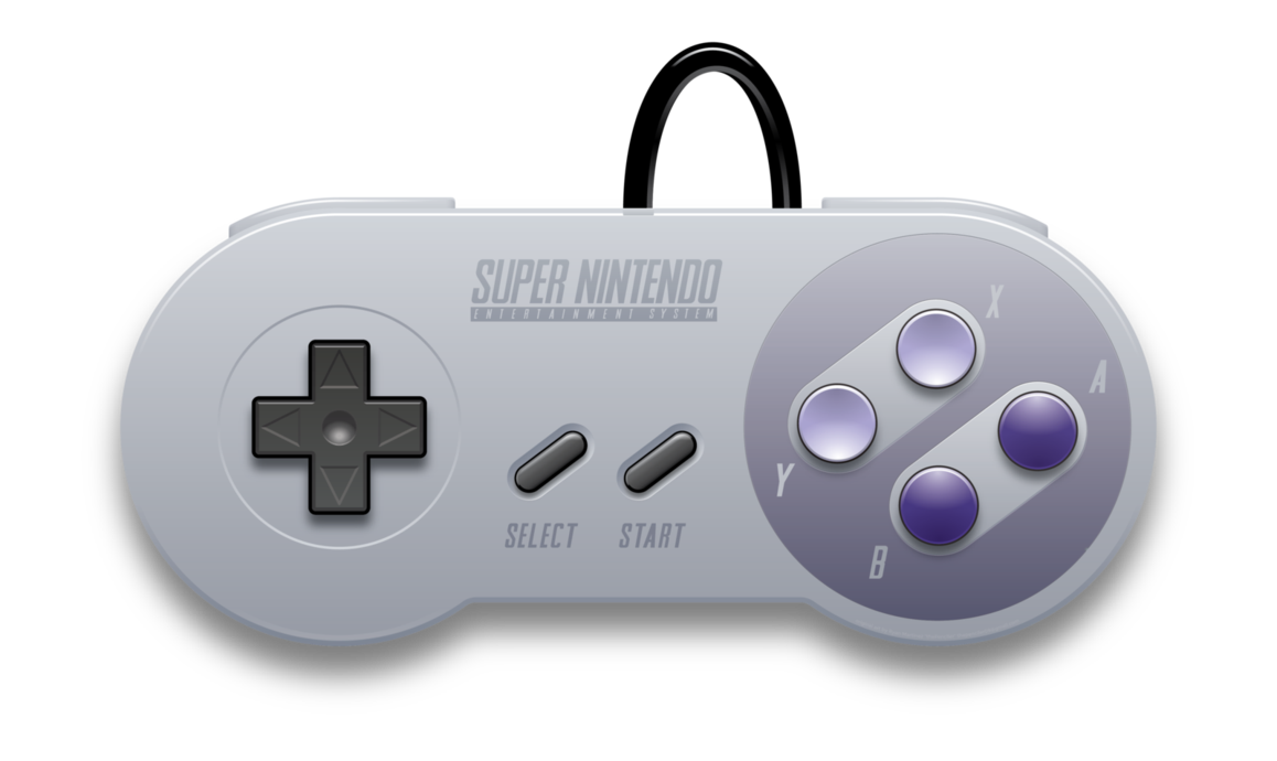 Super Nintendo Entertainment System Wii Game Controllers.