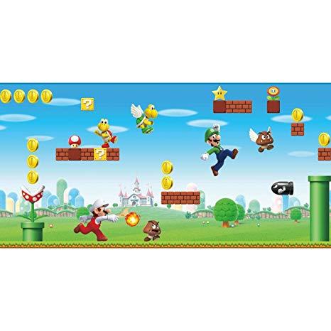 RoomMates RMK11193BD Nintendo Mario Peel and Stick Wallpaper.