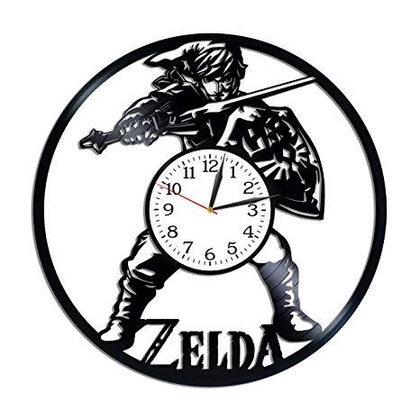 Kovides The Legend of Zelda Room Art Lp Vinyl Retro Record Wall Clock  Exclusive Video Game Gift Birthday Gift for Gamer Zelda Clock Xmas Gift  Idea.