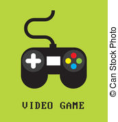 EPS Vectors of Modern game console green background.