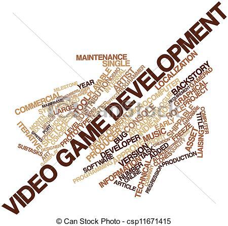 Video Game Programmer Clip Art.
