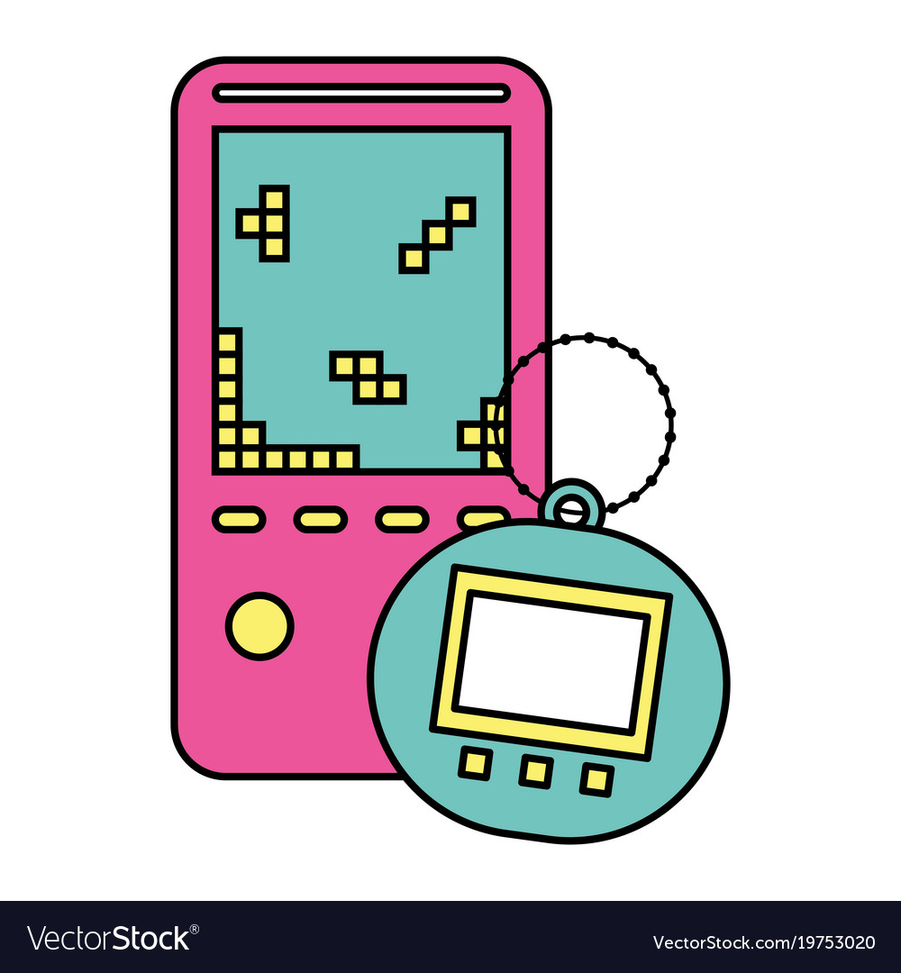 Portable video game console and tamagotchi toy.
