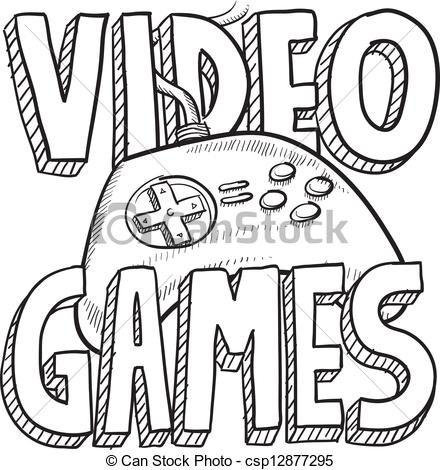 EPS Vectors of Video games sketch.