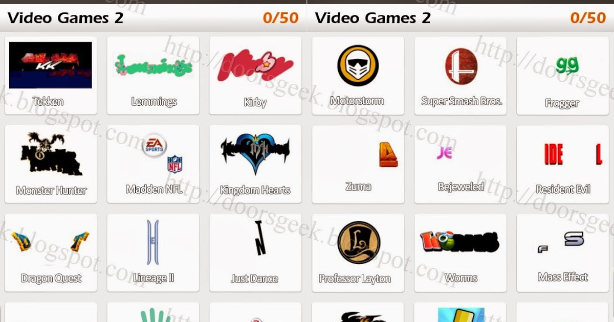thequizicalbrow: video game logo quiz.