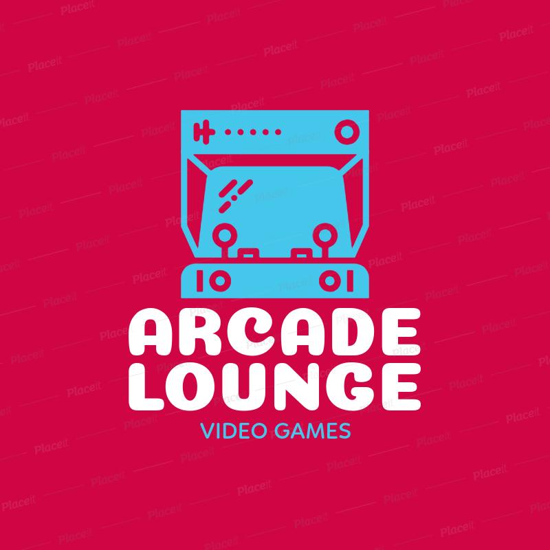 Video Game Logo Maker for Arcades 1289e.