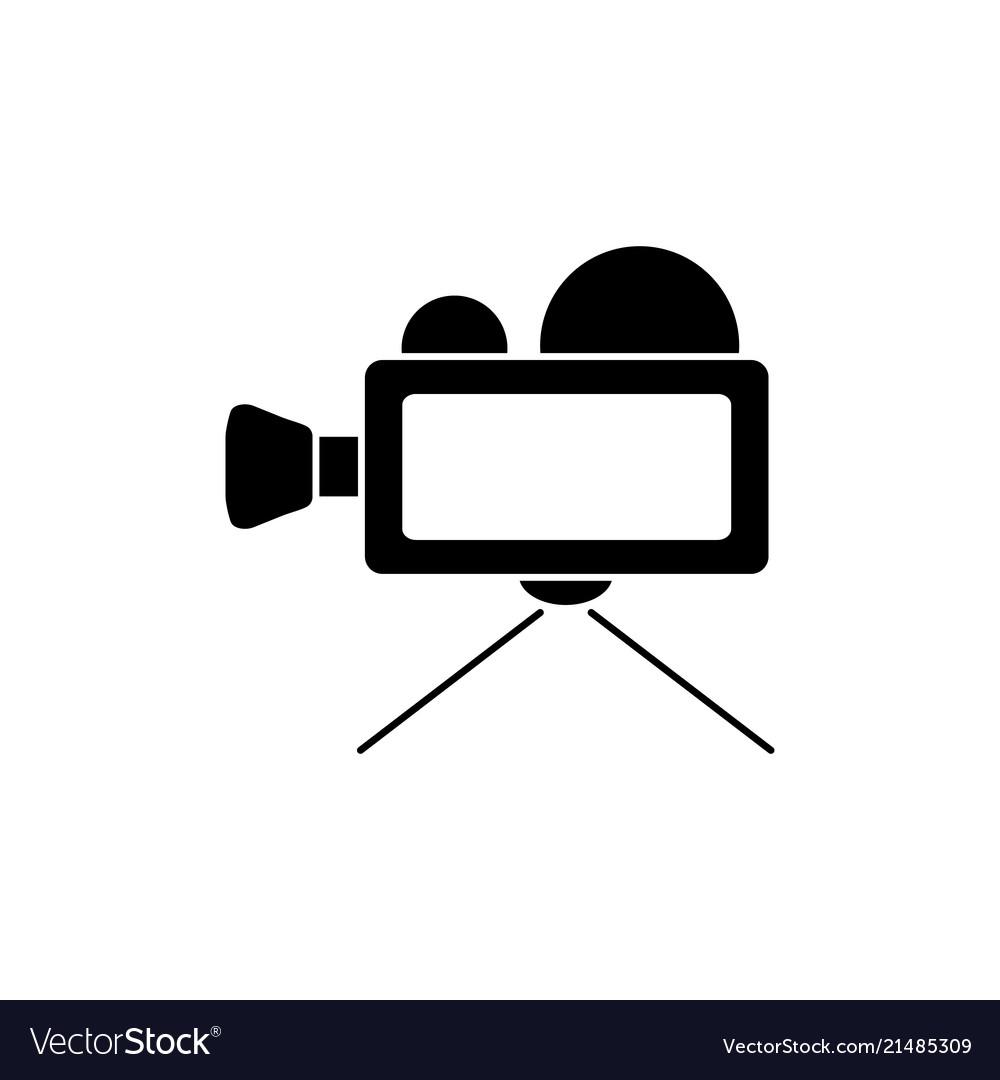 Video camera black icon.