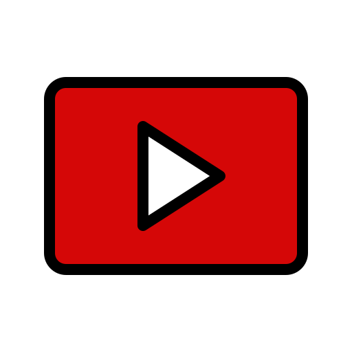 Youtube, video, player, play, logo, media Icon Free of.