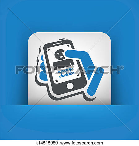 Clipart of Video phone k14515980.