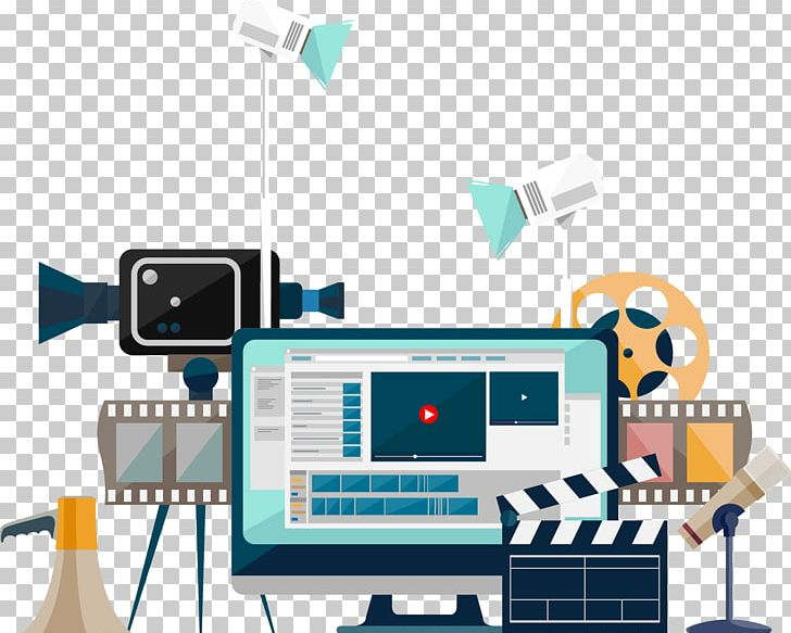 Video Production Production Companies Flat Design PNG.