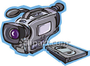 Video Camera and VHS Tape.