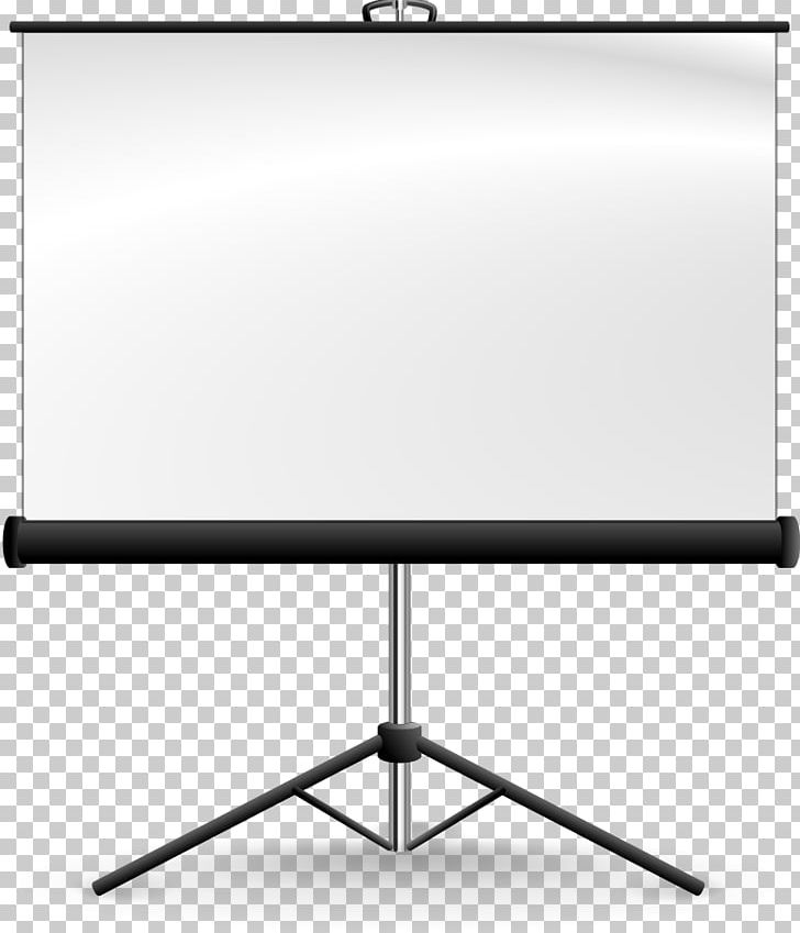 Projection Screen Video Projector Computer Monitor PNG.