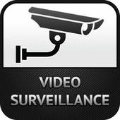Video Surveillance Symbol Clip Art.