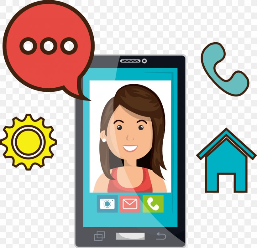 Cartoon Mobile Phone Videotelephony Clip Art, PNG, 954x922px.