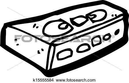 Clipart of old video cassette cartoon k15555584.