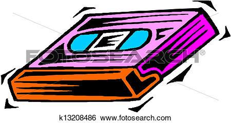 Clip Art of Video cassette. Vector k13208486.