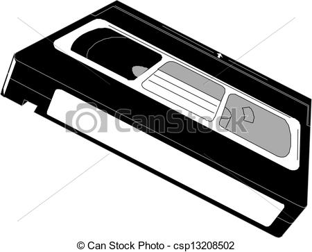Vector Clipart of Video cassette. Vector.