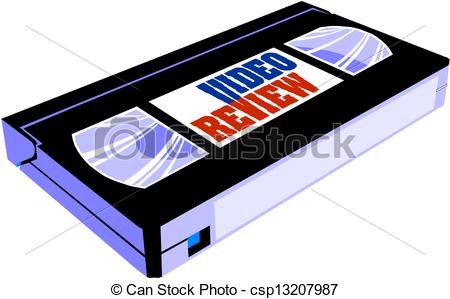 Vector Illustration of Classic video cassette with vintage red.