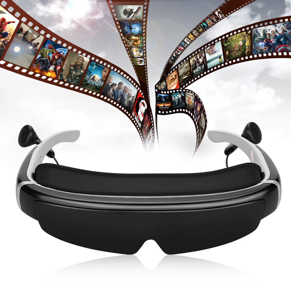 "98"" HD Virtual Digital 3D Video Glasses 16:9 AV IN 8GB."