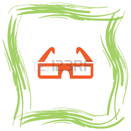 Movie Cinema 3d Video Glasses Vector Icon Royalty Free Cliparts.