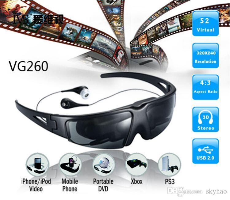 VG260 52 Inch Portable Wearing Wireless Video Glasses Eyewear.