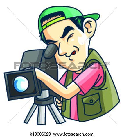 Clip Art of Cameraman k19006029.