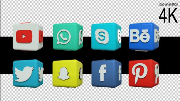 3D Social Media Logo by KIZILBOGA.