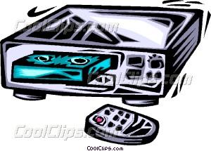 Videotape Recorders Vector Clip art.