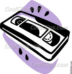 Video tape Vector Clip art.