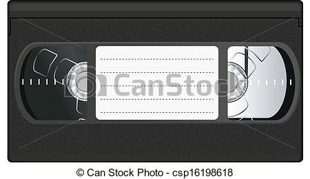 Vector Clip Art of video tape csp16198618.