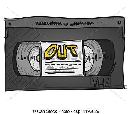 Vector Illustration of Video Cassette.