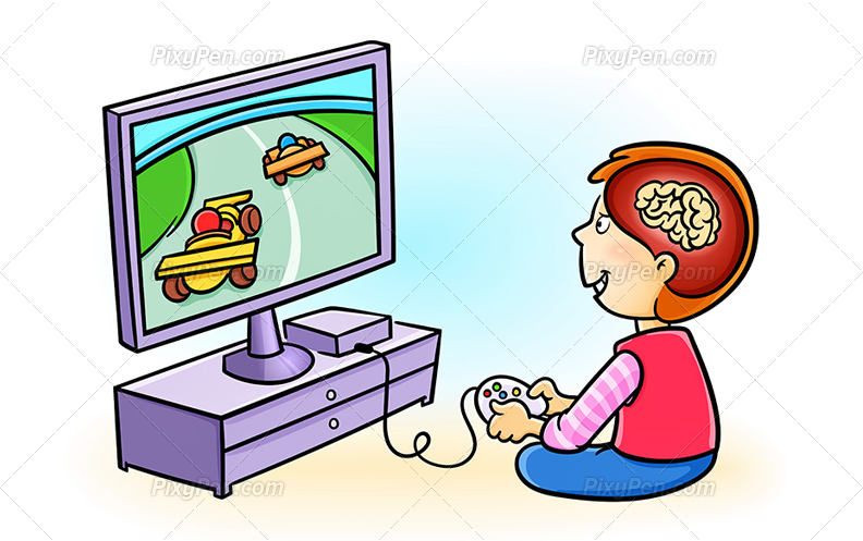 Video Game Playing Clipart.