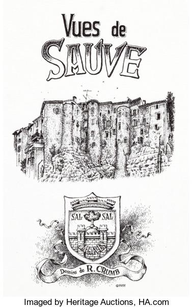 Robert Crumb Vues de Sauve Portfolio and Additional Prints Group.