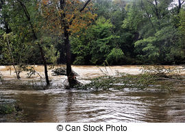 Stock Photography of Heavy Current River.