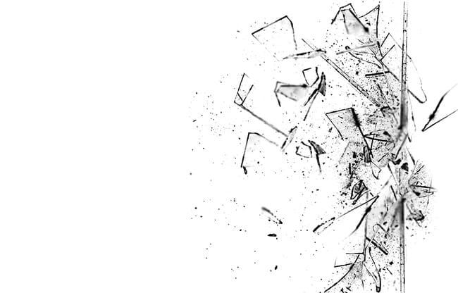 Explosión de vidrio roto PNG Clipart.