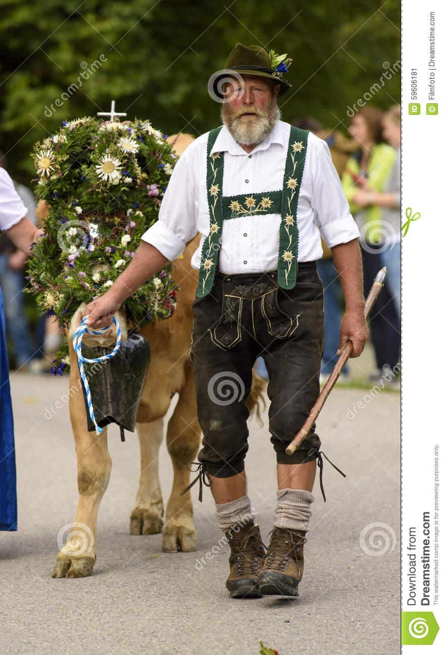Almabtrieb And Viehscheid In Bavaria Editorial Photo.