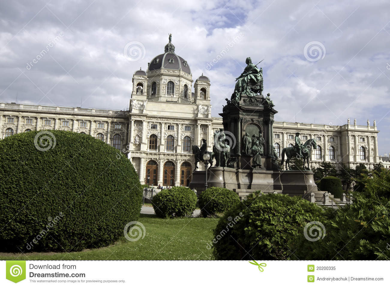 Maria Theresa Square In Vienna Royalty Free Stock Photo.