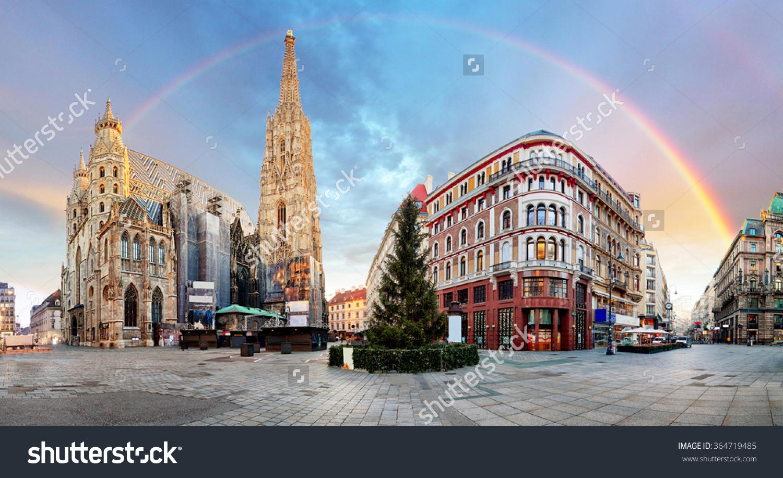 Panorama Od Vienna Square Rainbow Stephens Stock Photo 364719485.