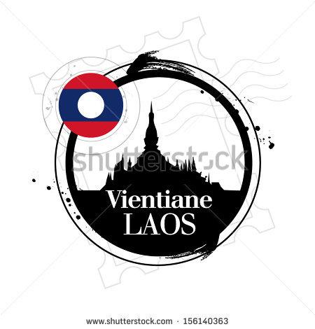 Stamp Vientiane Capital Laos Stock Vector 156140363.