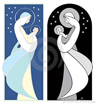 vierge marie clipart #5