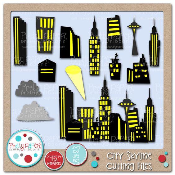 City Skyline Cutting Files.