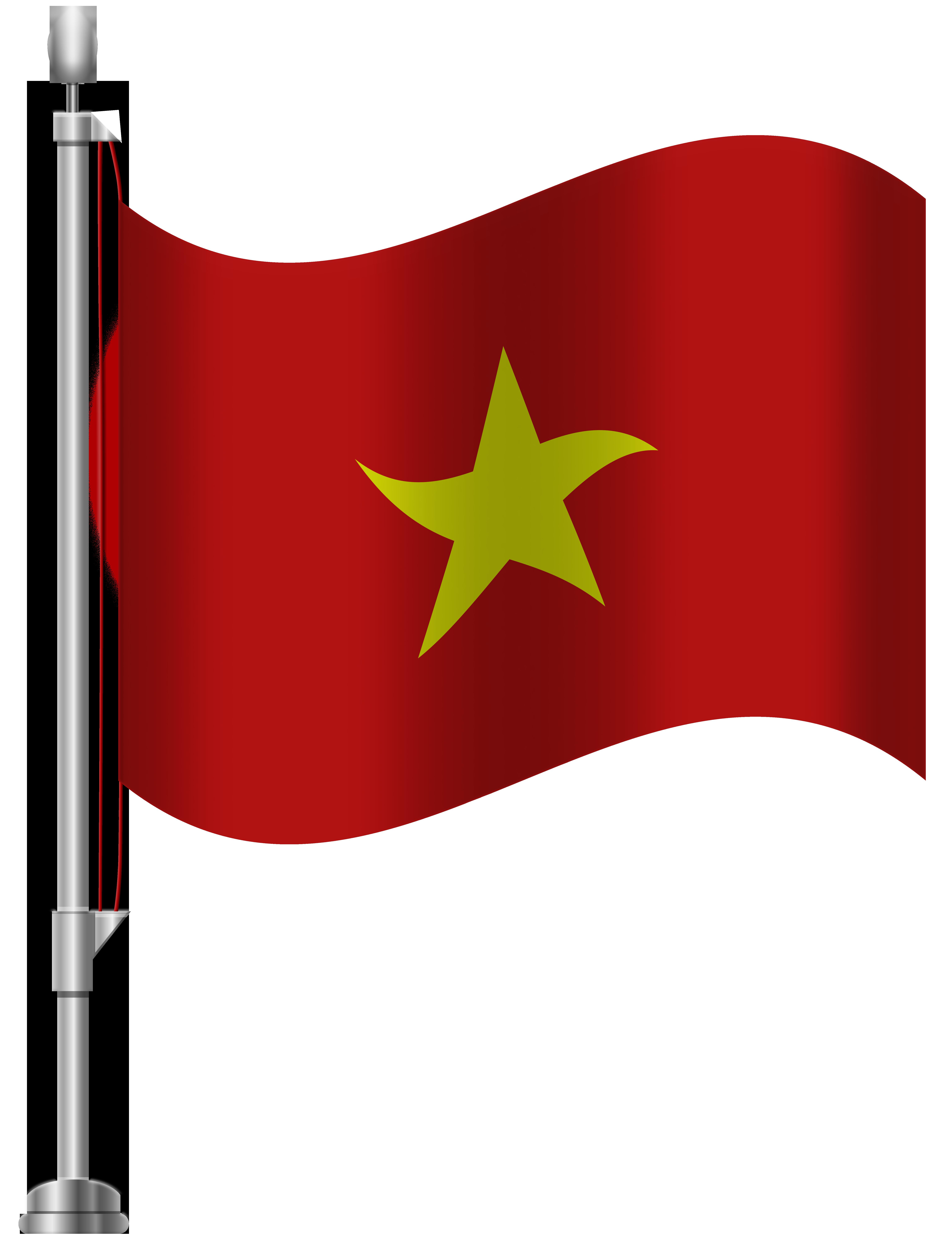 Vietnam Flag PNG Clip Art.