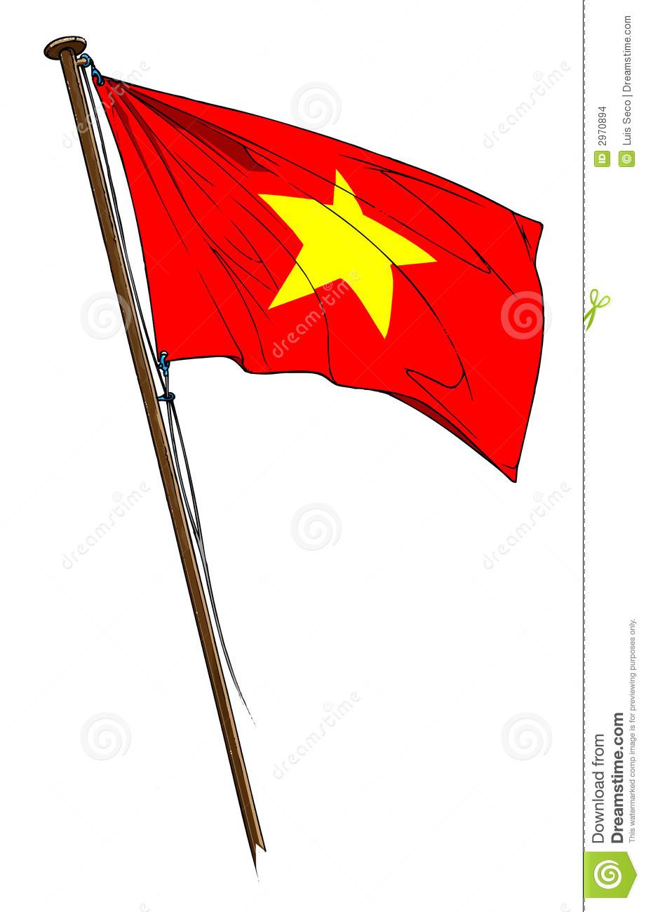 Vietnam Flag Clipart.