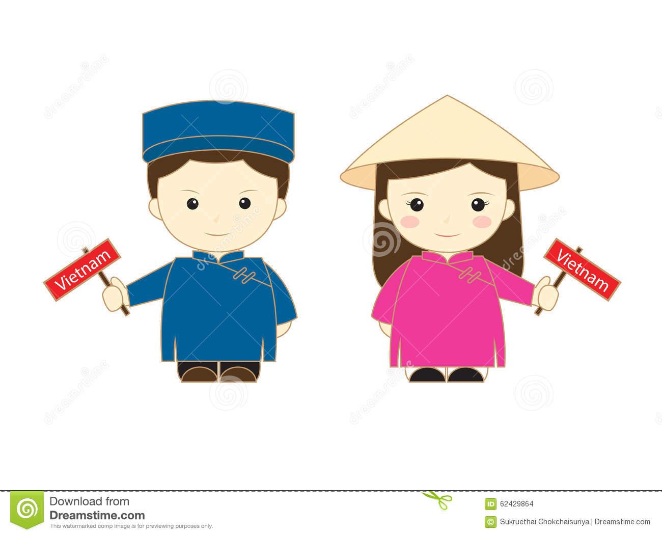 Vietnam Cartoon Asean Stock Illustration.