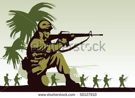 Vietnam soldier clipart.
